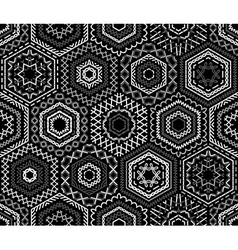 Seamless black and white embroidery pattern vector