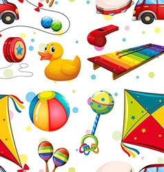 Seamless design with many toys vector