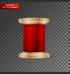 sewing thread on transparent background vector image