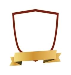 Shield ribbon label design vector