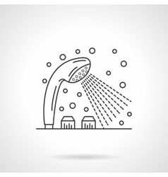 Shower dispenser flat line design icon vector