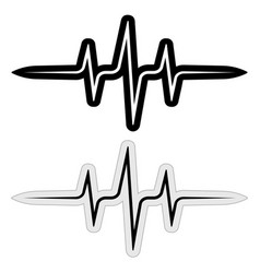 Sign sticker music pulse frequency wave vector