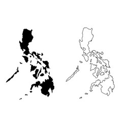 simple only sharp corners map philippines vector image