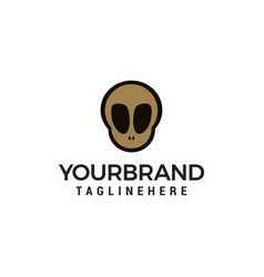 skull logo in trendy flat style design concept vector image