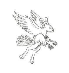 Skvader flying doodle vector