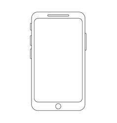smartphone icon in lineart style vector image