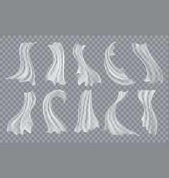 smooth chiffon cloth vector image