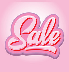 stylish calligraphic pink lettering sale on the vector image