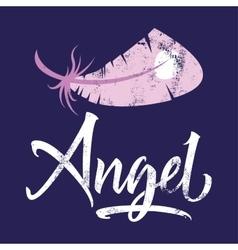 T-shirt printing logo template Angel vector image
