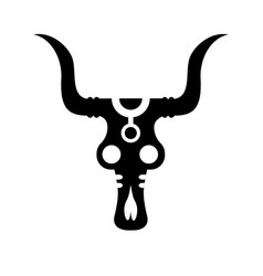 Tribal ethnic bull skull bone native american vector