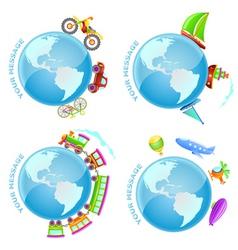 Voyage around world vector