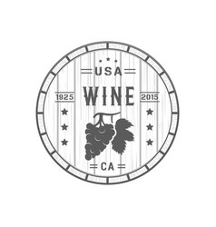 wine logotype vector image