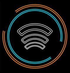 wireless and wifi icons wireless network vector image