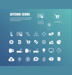 bitcoin icons for currency exchange online vector image