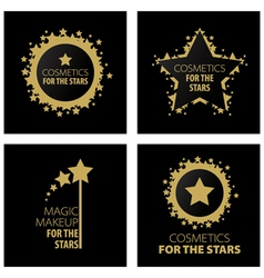 logos magic makeup for the stars vector image vector image