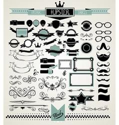 Mega Set of Vintage Labels for your Hipster vector image vector image