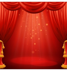 Red curtains Theater scene vector image