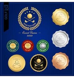 Set of golf badge label or emblem for sport vector image vector image