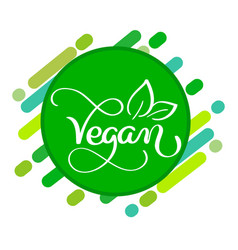 vegan logo concept sign handwritten vector image
