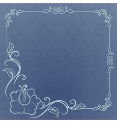 blue background with frame vector image vector image