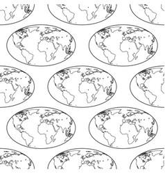 globe contour pattern vector image vector image