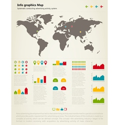 Info graphic map vector image