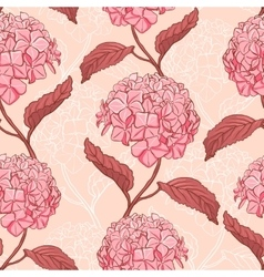 Seamless pattern with hydrangea vector image vector image