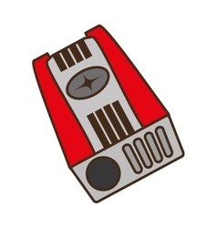 sharpener supply isolated icon vector image