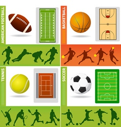 sport field ball and design vector image vector image