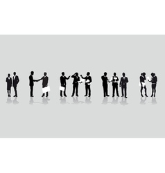 business people line vector image vector image