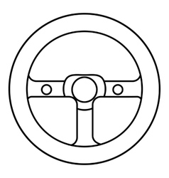 Racing rudder icon outline style vector image vector image