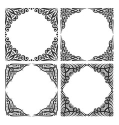 Set of decorative black frames vector