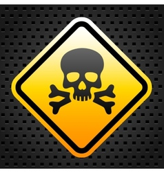 Warning sign with skull vector image vector image