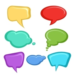 Cartoon speech bubbles set vector image vector image
