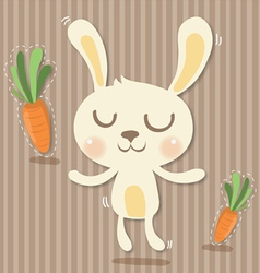 cony and carrots vector image vector image