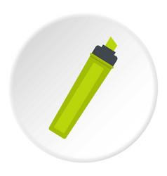 marker icon circle vector image