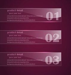number banner vector image vector image