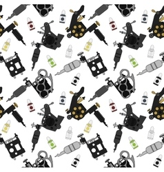 Tattoo machines and ink pattern Color vector image vector image