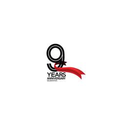 9 years anniversary logotype flat black color vector