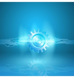 Abstract blue background with a circuit board vector image