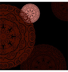 abstract ethnic background red vector image