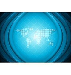 Abstract technology design with world map vector image