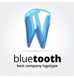 Abstract tooth logotype concept isolated on white vector