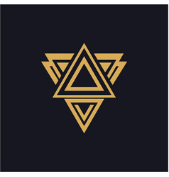 Abstract triangle logo design vector