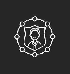 Accountability chalk white icon on black vector