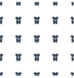baby onesie icon pattern seamless white background vector image