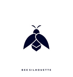 bee silhouette design template vector image