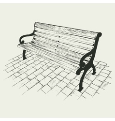 Bench isolated on white background vector image