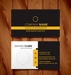 Black dark business card modern design vector