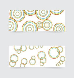 Business banners with abstract colored circles vector